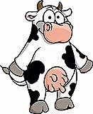 U24 Aufkleber lustige Kuh Autoaufkleber Sticker