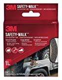 3M Safety-Walk Indoor/Outdoor Tread, Black, 1-in by 180-in Roll, 7634NA