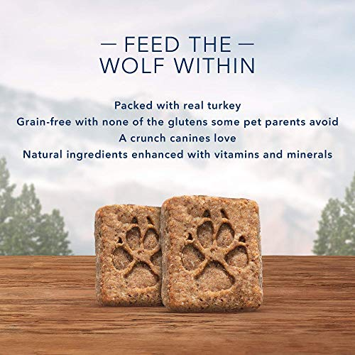 Blue Buffalo Wilderness Trail Treats Grain Free Crunchy Dog Treats Biscuits, Turkey Recipe 24-oz bag