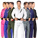 Elite Sports BJJ GI for Men IBJJF Kimono BJJ Jiujitsu GIS W/Preshrunk Fabric & Free Belt (See Special Sizing Guide) (White, A1)