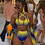 GREQ Bikini Set Bañador Nuovo Costume da bagno Bikini con Stampa sfumata a Vita Alta Sexy Costume da bagno Donna diviso-S