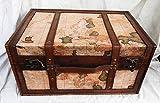 Caja de Almacenamiento para baúl, diseño de mapamundi Vintage, Madera