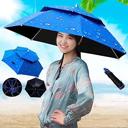 ZAZAP-1 Sombrero De Sombrilla para Pesca Al Aire Libre, Sombrilla para El Sol, Protección UV, Sombrilla para Montar En La Cabeza, Sombrilla Plegable En La Parte Superior, Fiesta, Al Aire Libre, Pesca