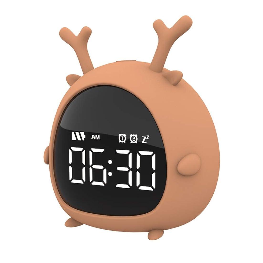 等価アデレードながらYYFRB エルフ目覚まし時計の学生は、大きな数字でベッドサイドクロックを示しています ウェイクアップライト (Color : A)