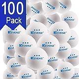 KEVENZ 100-Pack 3-Star 40+ Table Tennis Balls,Advanced Ping Pong Ball (Orange, White)