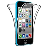 SDTEK Coque pour iPhone Se / 5c 360 Degres Protection Integral [Transparente Gel]...