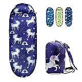 Kids Sleeping Bags for Girls – Unicorn Rainbow Star – Rioyalo YOLO 45 Camping Sleeping Bags for Kids with Carry Bag - Outdoor and Indoor (Unicorn-PL)
