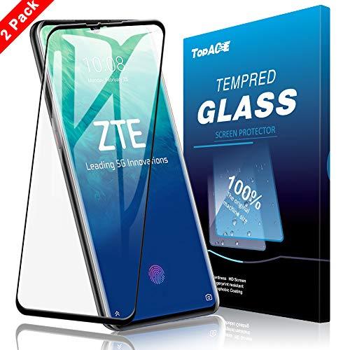 TOPACE 2 Stück Panzerglas Schutzfolie für ZTE Axon 10 Pro 5G, [Volle Bedeckung] Ultra Dünn 9H Festigkeit Ultra-HD Blasenfrei Anti-Kratzer Anti-Öl Gehärtetes Glas Bildschirmschutz für ZTE Axon 10 Pro 5G