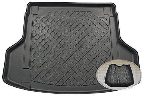 ZentimeX Z3289808 Gummierte Kofferraumwanne fahrzeugspezifisch + Klett-Organizer (Laderaumwanne, Kofferraummatte)