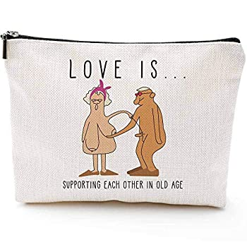Fun Anniversary Gifts for Her,10th 15th 20th 25th 30th 35th 40th 45th 50th 55th 60th 70th 80th 90th Anniversary,Wedding Anniversary Gifts for Wife- Makeup Travel Case,Makeup Bag Gifts