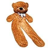 Fengheshun Super Giant Teddy Bear Outer Cover Animal Toy Huge Bear Shell Purple (Not Filled),Give Girlfriend The Best Gift On Valentine's Day (Brown, 1.8m)