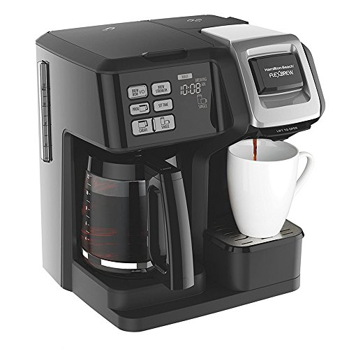 Hamilton Beach FlexBrew 2-Way Brewer Programmable Coffee Maker (49976) Bundle with Support Extension