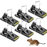 QA ネズミ 捕り 簡単 ネズミ捕獲器 トラップ 対策 駆除機 罠 捕獲器 駆除 マウス ネズミ取りカゴ ねずみ 害獣 家庭用 プラスチック 無毒無害 殺さず捕る 6セット