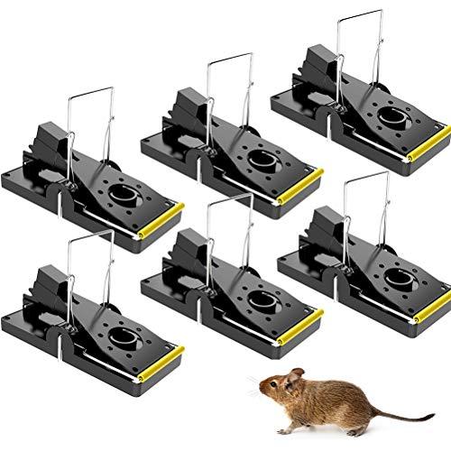 Piège à Souris, 6Pcs Pièges Tapetteà Souris,Nouveau à Souris Reutilisable avec Ressort Puisant, Securise, Piege a Rat Faciles à Utiliser, pour Intérieur Cuisine Maison Jardin