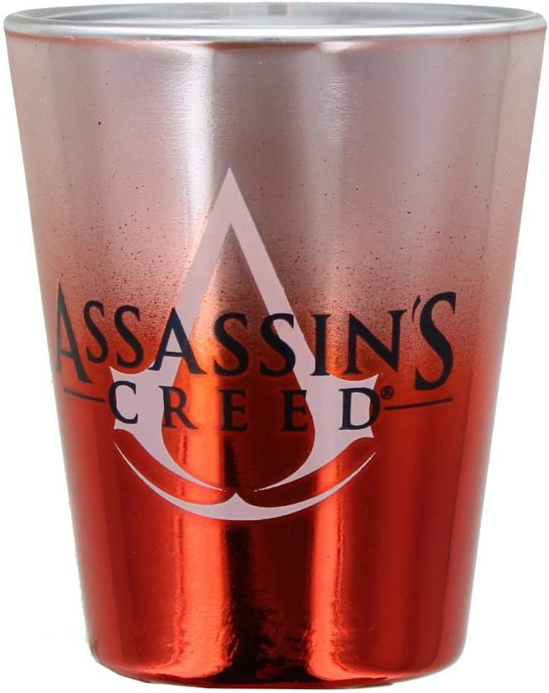 Financial sales sale JUST FUNKY Assassin's Creed Logo Inventory cleanup selling sale Glass Shot 1.5oz