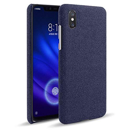 LUSHENG Funda para Xiaomi Mi 8 Pro, Funda para Teléfono Inteligente Lona Color para Xiaomi Mi 8 Pro, Ultrafina, Ligera y Duradera - Azul