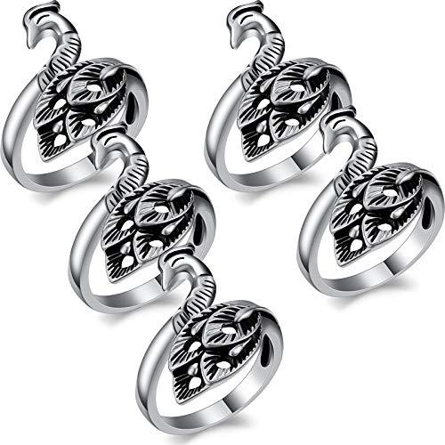 5 Stücke Verstellbarer Strickschlaufenring Garnring Häkelring Garnführung Fingerhalter Strick Fingerhut Ring zum Häkeln Stricken Bastelzubehör Werkzeug zum Valentinstag