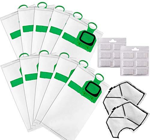 10 Sacchetti per folletto vk140 vk150 (10 sacchetti+2 filtri+12 profumini)
