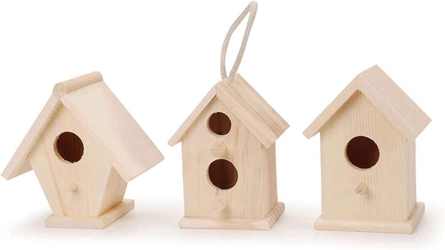 In a Outlet SALE popularity Darice Natural Wood Birdhouse 4.5