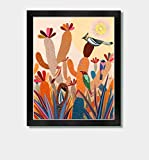 Southwestern Sunset - by Artist Jason Smith - Southwest Art, Mexican Folk Art, Mexican Birds, Arizona Print, New Mexico, Cactus Decor, Mexico Print, Cactus Print, Mexican Decor, Southwestern Decor