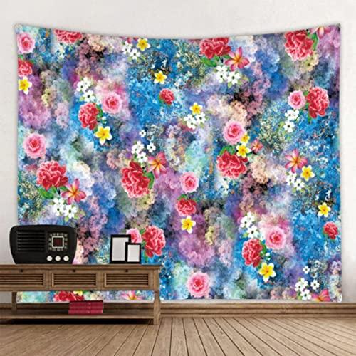 Arazzo di fiori dipinti a mano Mandala Bohemian Hippie Appeso a parete Decorazione domestica colorata Materasso da viaggio da spiaggia