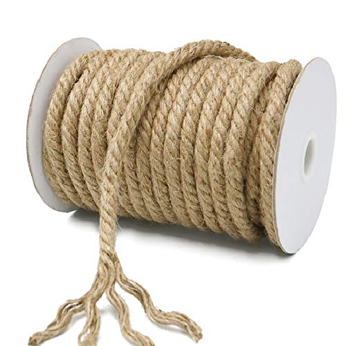 KINGLAKE 15 m Juteseil Dicker Gartenschnur 10 mm Hanfseil Dicker Jute-Seil zum Verpacken, Heimdekoration, Gartenbündeln