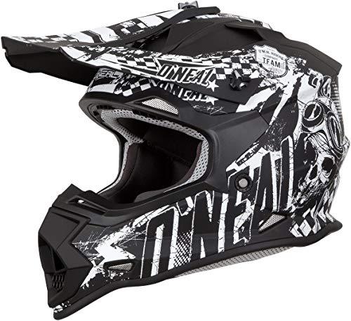 Oneal 2SRS Youth Helmet Rider Black/White, Unisex, 0200-R13, Schwarz/Weiß, Medium