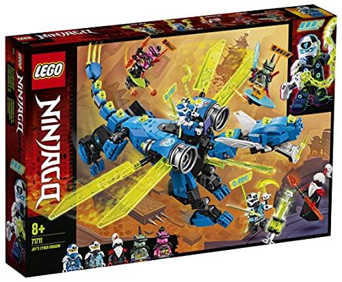 LEGO 71711 Ninjago CiberdragóndeJay con 5 Mini Figuras: Jay Digital, NYA Digital, Unagami, Hausner y Richi