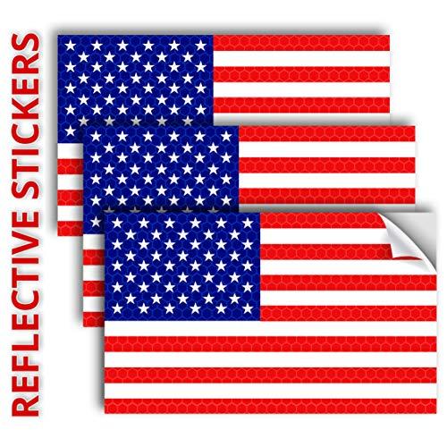 3PC 사려깊은 미국 국기 스티커-5X3 인치 미래 전사술-미국 국기 스티커 스티커 자동차 범퍼 트럭 창이 모 헬멧-미국 애국 스트라이프 비닐 옥외