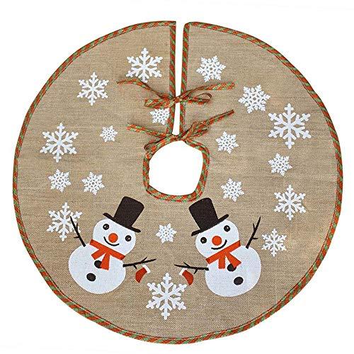 XYJIE - Gonna decorativa per albero di Natale, con fiocco di neve, diametro 122 cm, per interni ed esterni, decorazione natalizia per feste