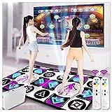 Equipo de gimnasia Manta de baile Adelgazantes LED Doble tapetes de baile inalámbricos, Pad de baile Wii Foam Play Mat Espesamiento Insonorización Tapetes de baile suaves para adultos / niños HD TV C