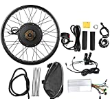 Vikye Kit de Motor de Bicicleta eléctrica, Kit de conversión de Motor de Cubo de 48V 1000W Rueda Kit de Motor Ebike de 26x4 Pulgadas(Rear Drive flywheel)