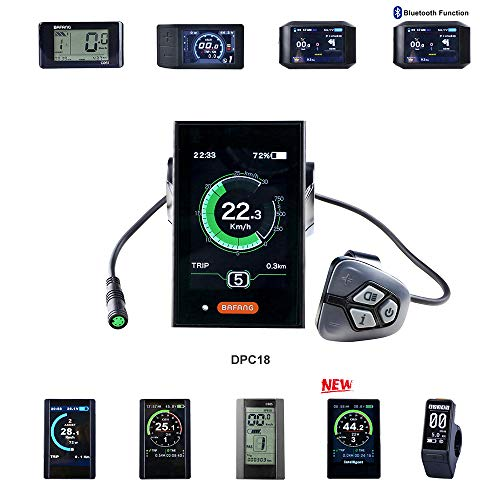 BAFANG HMI Colored Display Electric Bike Odometer Bike Speed Meter Mid Drive Motor (C18)