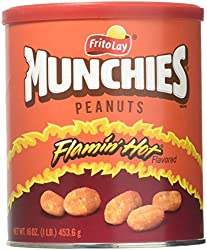 Munchies Flamin' Hot Peanuts, 16 oz Canister