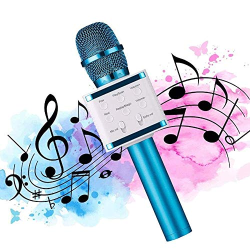 Wireless-Karaoke-Mikrofon, Bluetooth Karaoke-Player-Lautsprecher, kompatibel mit Android und iOS-Geräten, AusgangsKTV Außen Party Music Recording GAONAN