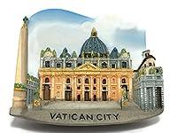 St. Peter's Basilica Vatican City Italy Souvenir Collection 3D Fridge Refrigerator Magnet Hand Made Resin - イタリア 冷蔵庫のマグネット 冷蔵庫用マグネット 磁石 お土産 コレクション 手作り 樹脂