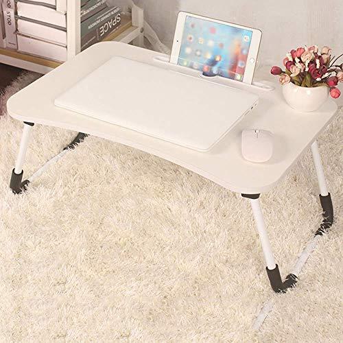 HYY-YY Zusammenklappbarer Laptop-Schreibtisch mit klappbaren Beinen, geeignet für Zuhause und Büro, für Bett, Sofa, Boden (Farbe: Weiß, Größe: 40 x 60 cm)