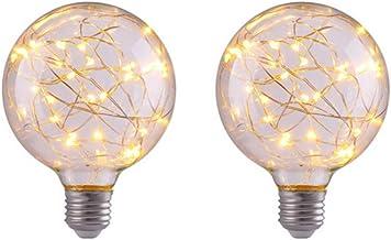 Mobestech 2pcs Edison Bulbs Screw Base Decorative Glass Light Gypsophila Edison LED Bulb Art Deco Retro Edison Light Bulb ...