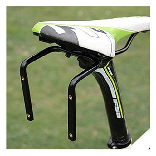 ECYC Bicycle Seat Post Double Water Bottle Holder Black Bottle Cage Rack