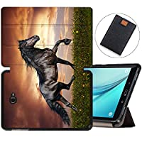 MAITTAO Galaxy Tab A 10.1 with S Pen 2016 Case SM-P580/P585, Folio Shell Case Stand Cover with Auto Wake/Sleep for Samsung Galaxy Tab A 10.1 Inch Tablet Sleeve Bag 2 in 1 Bundle, Akhal-Teke Horse 6