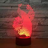 Creative 3D Kids Gift Night Light touch control remoto cambiante colorido LED Lámpara de mesa ambiente personalizado 3D Kids Gift