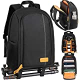 TARION Camera Backpack Waterproof Camera Bag Large Capacity Camera Case with 15 Inch Laptop Compartment Rain...