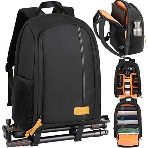 TARION TB-02カメラバッグ 大容量 軽量 コンパクト カメラバックパック レインカバー付き 一眼レフバッグ