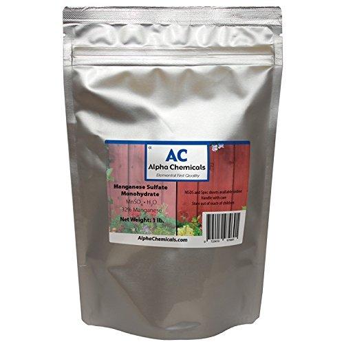 Manganese Sulfate Monohydrate - 32% Mn - 1 Pound