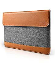 tomtoc Slim Laptop Sleeve for 15 Inch Microsoft Surface Laptop 4/3, 15-inch MacBook Pro Late A1990 A1707 2016-2019, 2020 Dell XPS 15, Felt & PU Leather Protective Envelope Case with Accessory Pocket