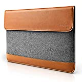 tomtoc Slim Laptop Sleeve for 13.3 Inch Old MacBook Air, MacBook Pro Retina Late 2012 2015, Microsoft Surface Laptop 3/2/1, Felt & PU Leather Envelope Carrying Case