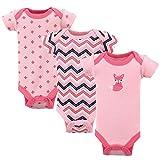 Luvable Friends Unisex Baby Cotton Preemie Bodysuits, Foxy, Preemie