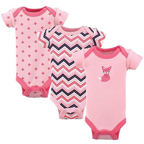 Luvable Friends Baby Cotton Preemie Bodysuits, Foxy