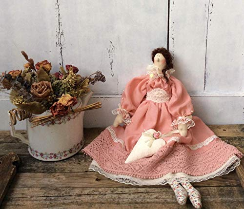 Tilda in Boho style Doll Rag doll Cloth doll Ehtnic doll Soft toy Kids room Country style Boho chic Gift for girl friend Home decor