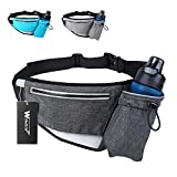 Hiking Fanny Packs for Women Men, Fanny Pack with Water Bottle Holder, Running